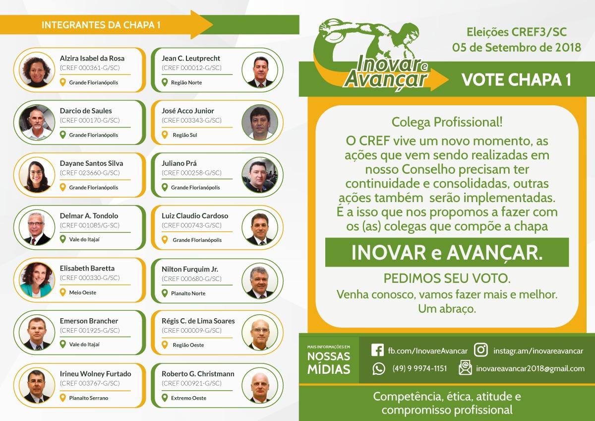 Eleições Cref3sc Conselho Regional De Educação Física De Sc