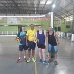 Curso de voleibol, Luiza Ariela de Souza, Marcelo Campos, Roberto Mafli