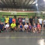 Marcelo e Mário Campos de ConcórdiaSC presentes no curso de Voleibol da Iniciação ao Clube e (Luiza) e o Roberto Mafli