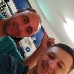 Massagem e liberação miofascial. Michel e Ricardo Moisés. Sala cheia